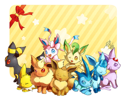 Nine Cuties by LazyAmphy