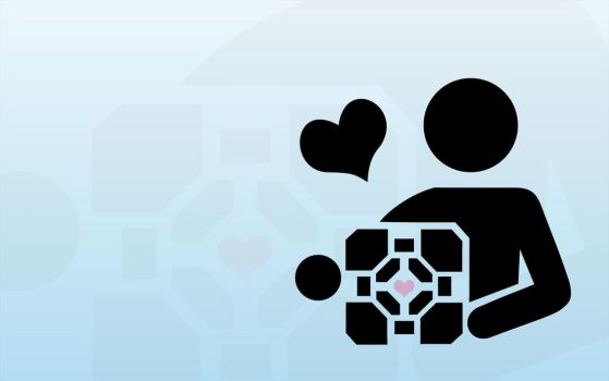 Clear Skies and Companion Cube by rotbearer