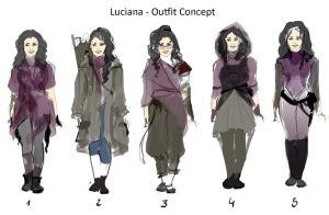Luciana studies by Fayerin