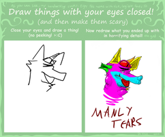 EYES CLOSED by FurryHater
