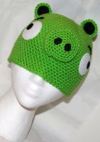 Angry Birds Green Pig Beanie by rainbowdreamfactory