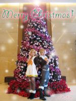 Rin and Len says Merry Christmas by miwitch