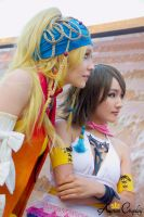 Rikku and Yuna Cosplay from FFX2 by AurumCosplay