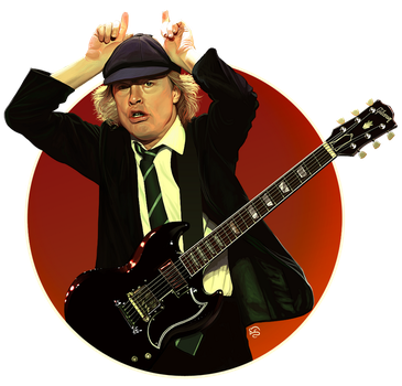 Angus Young by TovMauzer