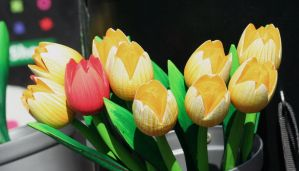 wooden tulips by ingeline-art