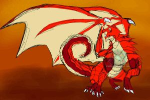 The Darkness Tales - Red Magma Dragon by ArkaDark