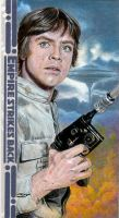 Luke Skywalker ESB 3D Sketch Card by DBergren