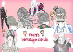 PNG's Vintage Girls by SweettEmottion