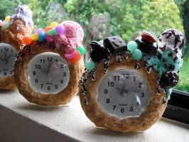 Candy Covered Donut Clocks 2 by kawaiifriendscafe
