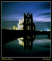 Whitby Abbey by night by richardldixon