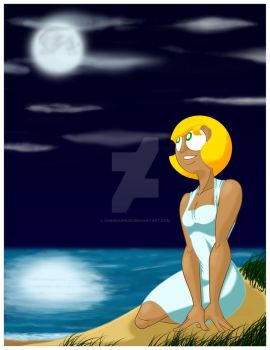 Jill Midnight by the Sea by chbgraphics