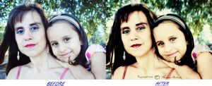 Mom and Daughter portrait (before and after) by duzetdaram