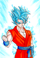 Saiyan God Super Saiyan Goku by Elyas11