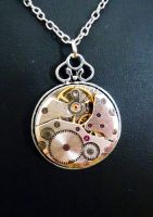 Simple Vintage Steampunk Pendant by lollollol2