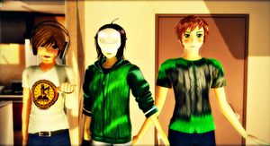 {MMD} Some really cool people. by XenericPower