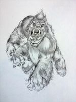 White Ape Of Barsoom By DW MIller by ConceptsByMiller