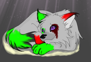 Bloodmist and rainbowmist pup by goicesong1