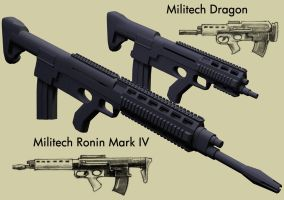 Militech Ronin and Dragon by Youngfreud