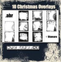 10 Christmas Overlays by Diamara