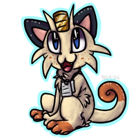 AT: Meowth by Aussie-sky