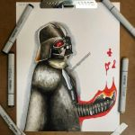 Darth Vader (Markers) by Easonillustrator
