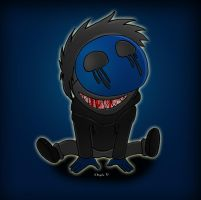 Eyeless Jack smiles by simotaku