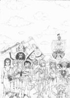 Straw Hat crew pencil by Anti-Hero25336
