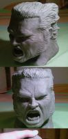 wolverine head sculpt by cavalars