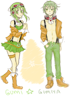 Gumi and Gumiya - append by claudeekuru-chan