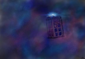 TARDIS by she-wore-lemon