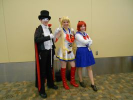Otakon 2012 - Tuxedo Mask, Sailor Moon, Osaka Naru by Angel1224