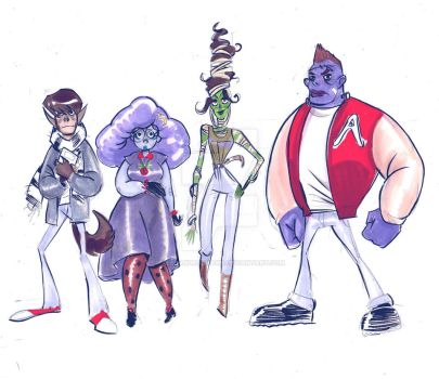 Character line up finals by alejandrodraws