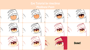 Eye Colour Tutorial Using Medibang by rineclipses