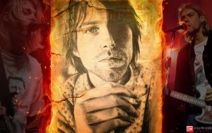 Kurt Cobain Wallpaper by briorey