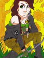 ::Crouching Katniss:: by Ksterstone