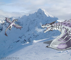 Dragons in Antarctica by Alien-Psychopath