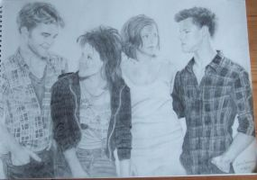 Rob, Kristen, Ashley, Taylor by lorcamart
