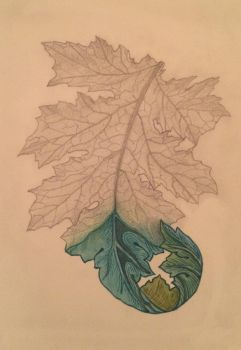 Study of leaf painting changed up abit by wutdahek