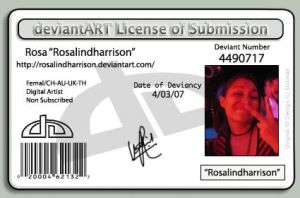 Deviant ID License by rosalindharrison
