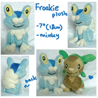 Froakie gen 6 Pokemon starter plush