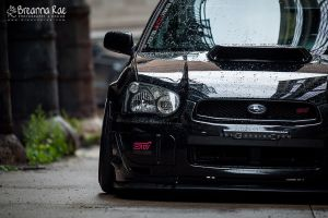 Rain Sprinkled STi by breanna-rae