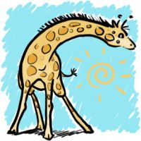 Stupid giraffe by Nalikatti