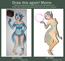 meme  before and after Cinyl by NaensiMinako