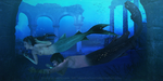 Amongst the ruins of the old Atlantean temple. by black-cat16