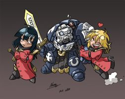 Chibi Ultramarine and Sisters by NachoMon