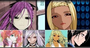 Rosario+Vampire Vampiresses Wallpaper by weissdrum