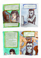 Jade and Equius -- Cavemen by Zalein