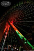 Ferriswheel At Night by chat-noir