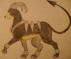 Duskstrike the Houndoom by RuinedBloodShed