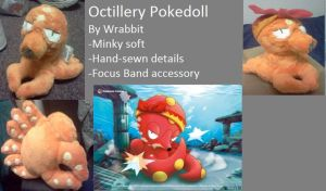 Octillery Mock Pokedoll with Focus Band by theamazingwrabbit